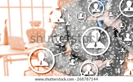 protect social connection concept - stock photo
