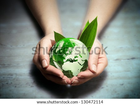 protect the green of Europe - stock photo