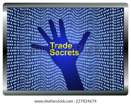 Protect Trade Secrets. Concept sign for the protection of confidential information against data theft - stock photo