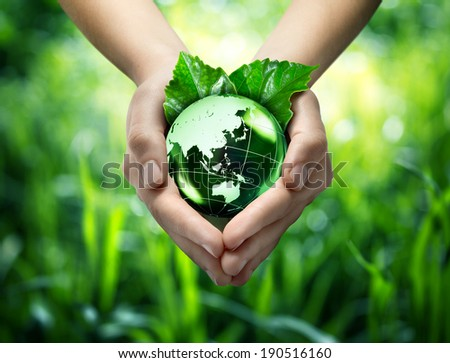 protect world's green - Orient - japan, china and orient maps elements of this image furnished by NASA - stock photo