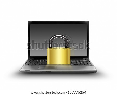protect your computer, security concept - stock photo