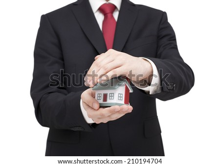 Protect Your House. Clipping path included. - stock photo