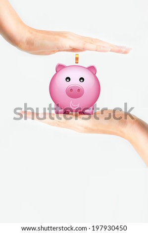 Protect your savings concept or time to save money - stock photo