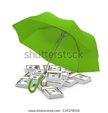 Protected money concept - dollars - stock photo