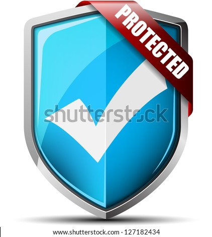 Protected Shield - stock photo