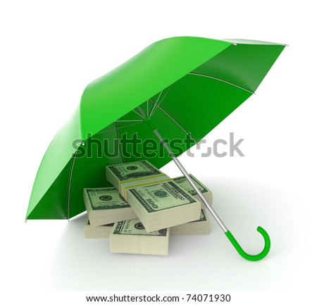 protecting money concept - stock photo