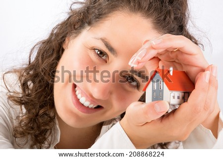 protection and home insurance concept  - stock photo