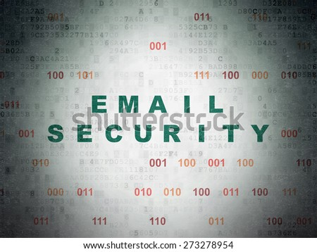 Protection concept: Painted green text Email Security on Digital Paper background with Binary Code, 3d render - stock photo