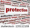 Protection creative message design. Security poster concept - stock photo