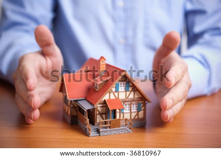 protection (domestic property insurance concept) - stock photo