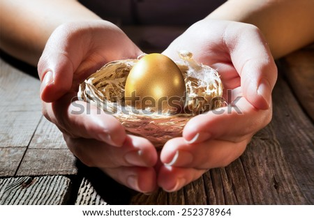 protection financial for future - growth treasure  - stock photo