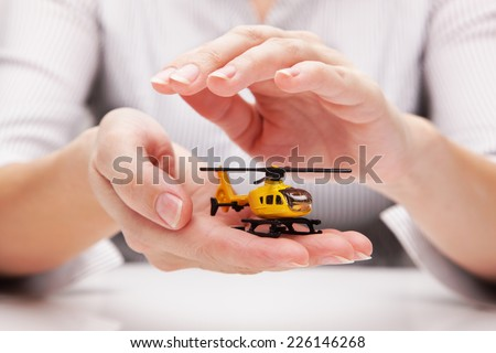 Protection of helicopter (concept) - stock photo