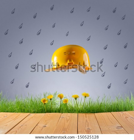 protection of nature from industrial emissions - stock photo