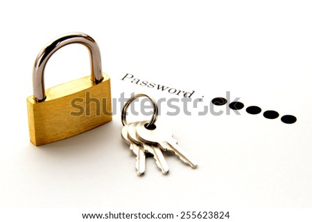 Protection of password image - stock photo