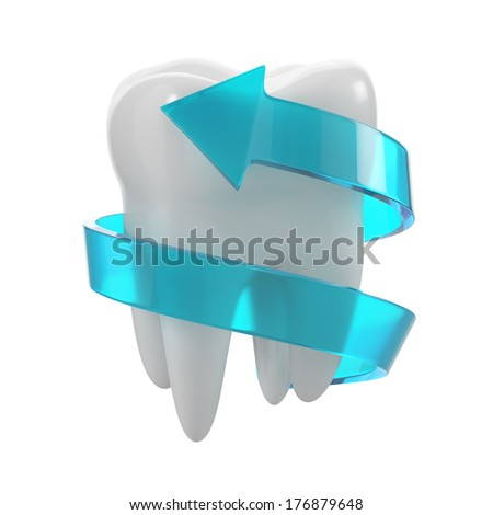 protection of teeth concept - stock photo