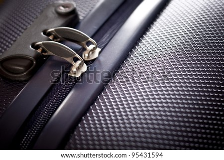 Protection of tourist bag - stock photo
