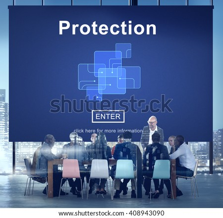 Protection Safety Security System Privacy Policy Concept - stock photo