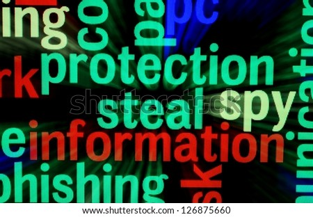 Protection steal information - stock photo