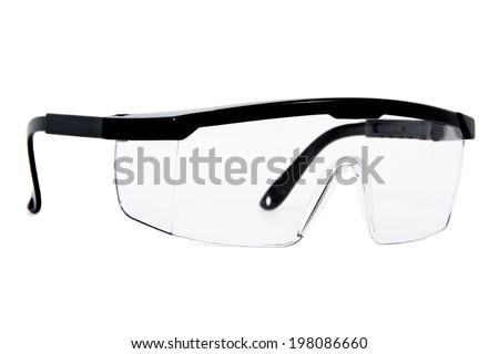 Protective Eyewear / Safety Glasses Isolated on White Background - stock photo