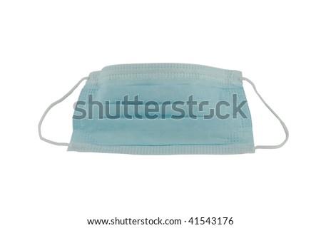 Protective face mask isolated on white background - stock photo