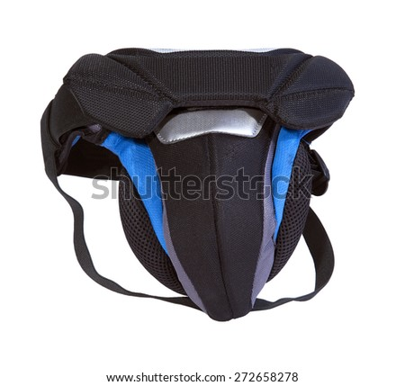 protective sport jockstrap isolated on white - stock photo