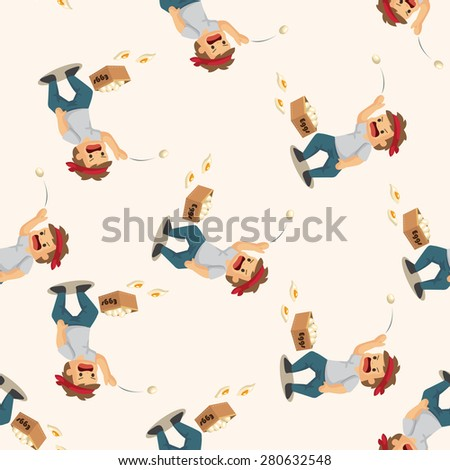 Protesters ,seamless pattern - stock photo