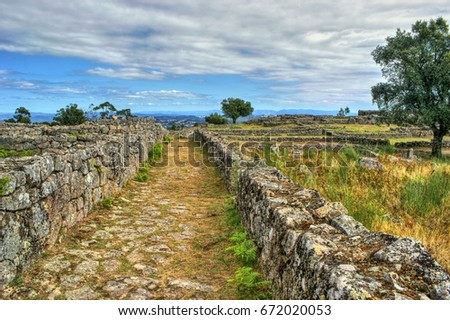 Proto-historic settlement in Sanfins de Ferreira, Pacos de Ferreira, north of Portugal