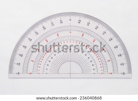 protractor  - stock photo