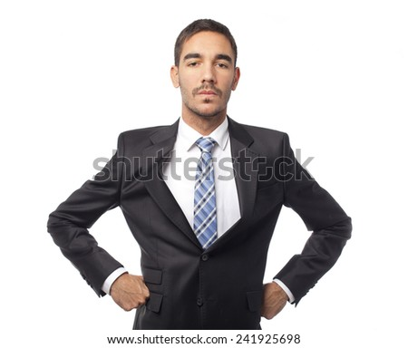 Proud businessman - stock photo
