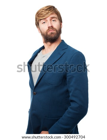proud businessman confident pose - stock photo