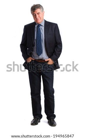 Proud businessman posing