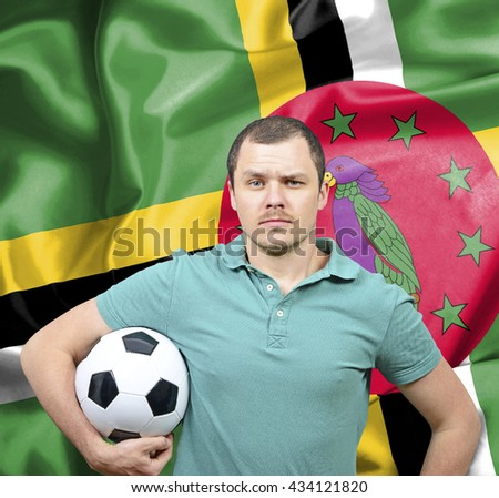 Proud football fan of Dominica