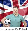 Proud football fan of Great Britain - stock photo