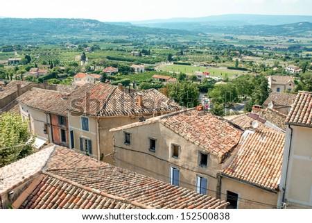 Provence village roof - stock photo