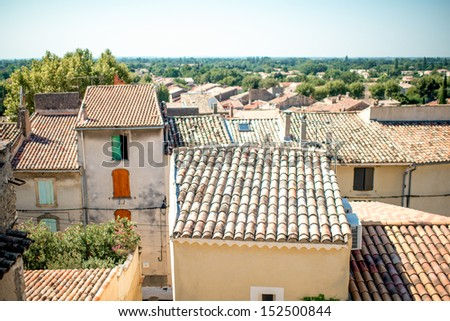 Provence village roof - stock photo