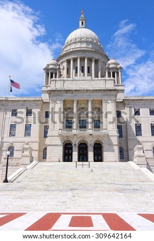 Providence, Rhode Island. City in New England region of the United States. State capitol building.
