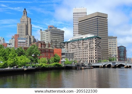 Providence, Rhode Island. City skyline in New England region of the United States. - stock photo