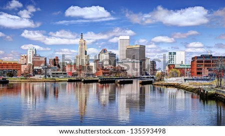 Providence, Rhode Island was one of the first cities established in the United States. - stock photo