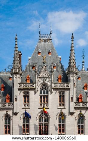 Provincial court in Bruges, Belgium  - stock photo