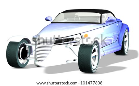 Prowler graduated color blue to white - stock photo
