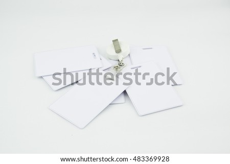 Proximity card on white backgroud.