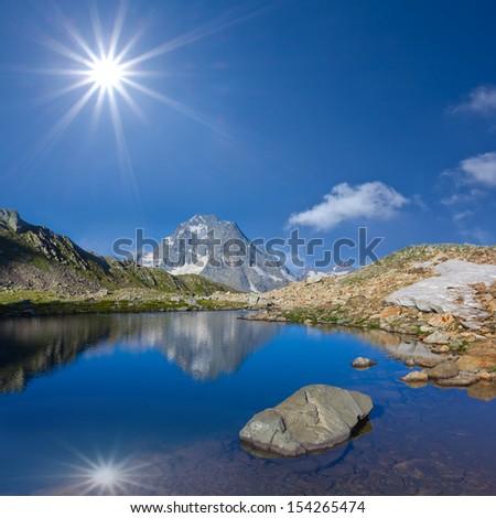 pshish mount caucasus russia - stock photo