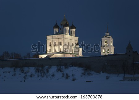 Pskov Kremlin and Trinity Cathedral, Russia