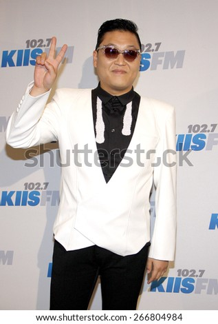 PSY at the KIIS FM's Jingle Ball 2012 held at the Nokia Theatre LA Live in Los Angeles on December 1, 2012.  - stock photo