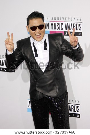 PSY at the 40th American Music Awards held at the Nokia Theatre L.A. Live in Los Angeles, USA on November 18, 2012. - stock photo
