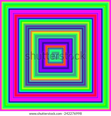 Psychedelic colors square shapes abstract. - stock photo