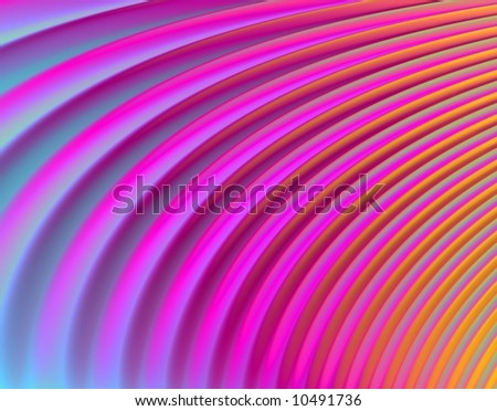 "Psychedelic ""feather"" pattern (magenta, pink, blue, orange) - abstract"