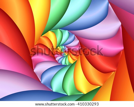 Psychedelic Pastel Rainbow Spiral Background