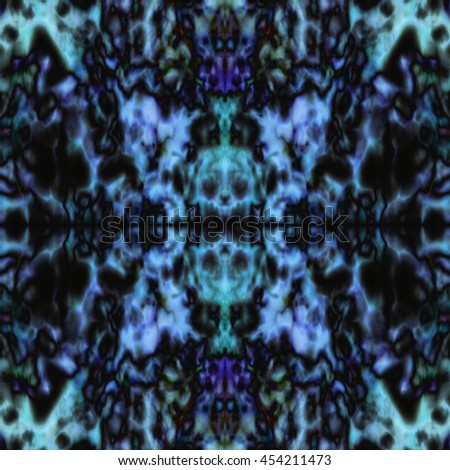 Psychedelic purple and green kaleidoscope pattern