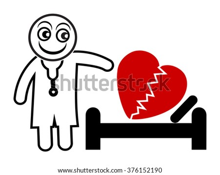 Psychoanalyst at Work. Healing emotional wounds and broken hearts - stock photo